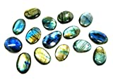 Labradorit oval Palm Stein Cabochon 30–40 mm