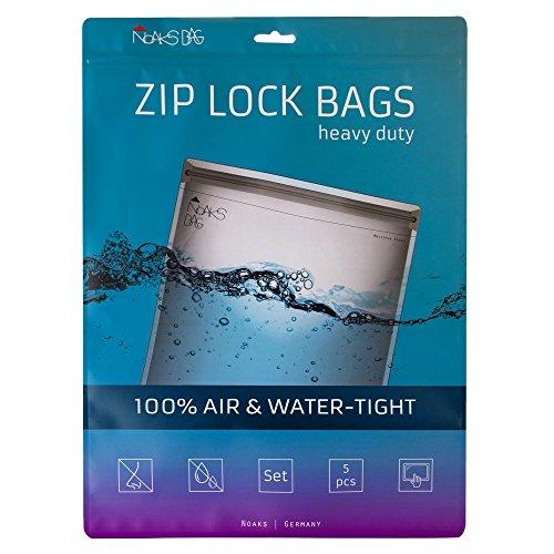 Noaks Bag | Set - 5 Bags | Schutzhülle, ZIP-Beutel, Dry-Bag | 100 % wasserdicht, geruchsdicht & sicher | Für Urlaub, Sport & Reisen | Das Original