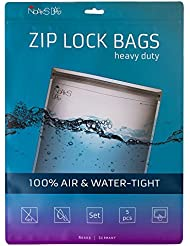 Noaks Bags Set | 5 pcs (XS/S/M/L/XL) protective covers, ZIP bags, Dry Bags | 100% waterproof up to 10 m, air tight, odour-proof, food safe
