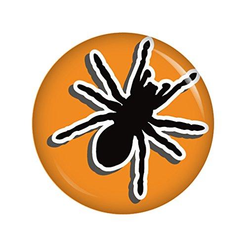 Kiwikatze® Fest - Spinne Button Ansteckbutton 37mm für (1700 Halloween Kostüme)