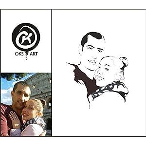 Personalisiertes Porträt im minimalistischen Design (2 Personen)