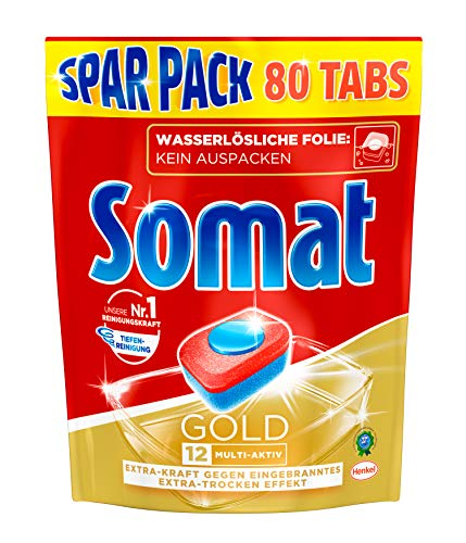 Somat Tabs 12 Gold, 1 Pack (80 Tabs) Gold 12