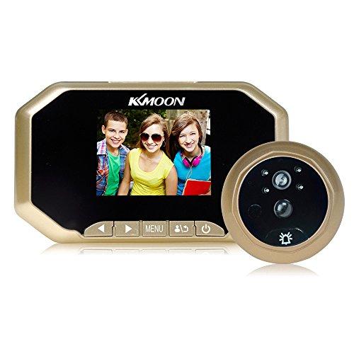 """Extaum 3\"""" LCD Digital de Visor Mirilla 160 ° PIR Puerta del Ojo de la cámara del Timbre Infrarrojos de visión Nocturna de detección de Movimiento Foto Tomando/grabación de vídeo la Seguridad en casa"""