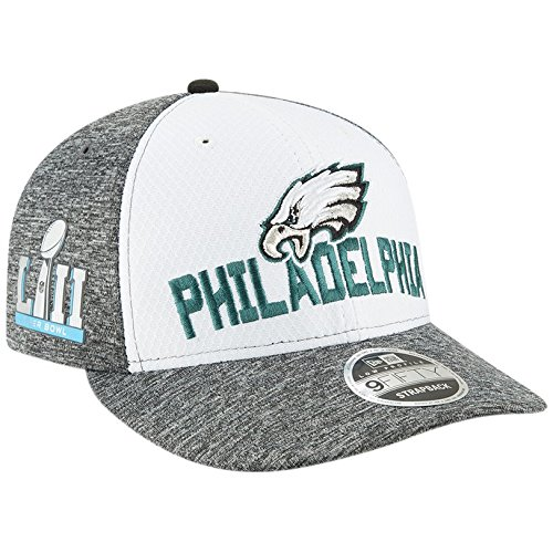 New Era NFL Properties 9Fifty Strapback Cap PHILADELPHIA EAGLES Grau Weiß, Size:ONE SIZE Eagle Snap