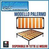 RETI D'AMORA Rete A DOGHE Larghe in FAGGIO 80 X 190 O Tutte Le Misure Made in Italy Altezza 35CM (80 X 170)