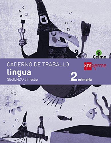 Caderno de lingua. 2 Primaria, 2 Trimestre. Celme - 9788498545388