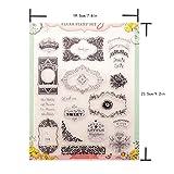 BINGMAX Silikonstempel DIY Stempel Geburtstag Scrapbooking Album Foto Weihnachten Valentinstag Geschenke