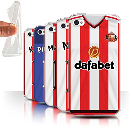 Offiziell Sunderland AFC Hülle / Gel TPU Case für Apple iPhone 4/4S / Pack 24pcs Muster / SAFC Trikot Home 15/16 Kollektion Pack 24pcs