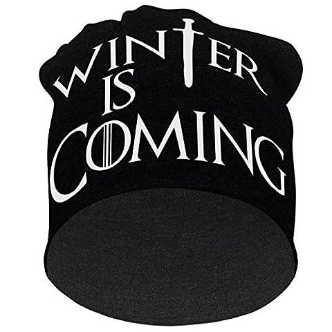 Stylotex XXL Beanie Winter is Coming Mütze oversized , Farbe:schwarz-grau;Größe:XL/XXL