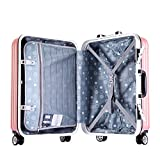 La corsa trasporta sulla valigia Scatola portautensili con struttura in alluminio for cassetti da 20 pollici.Scatola portautensili universale con asta in ABS. Leggero e portatile ( Colore : Rosa )