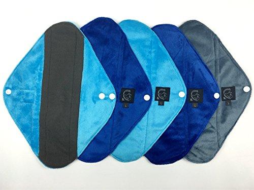 5-pack-plain-blue-heavy-flow-cloth-sanitary-pads-csp-30cm-long-x-10cm-wide-1175-l-x-4-w-bamboo-charc