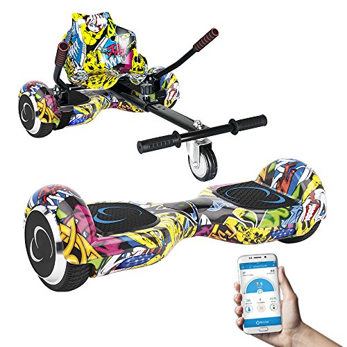 SmartGyro X2 UL + GO KART PACK STREET - Patín eléctrico X2 UL ( Hoverboard 6'5' con Ruedas Run-Flat) y Accesorio Go Kart Pro (Sillin adaptable), color multicolor