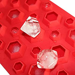 Allforhome 3d Diamonds Gem Cool Ice Cube Chocolate Soap Tray Mold Silicone Fodant Moulds