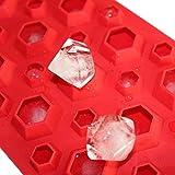 Allforhome 3d Diamanten Gem kühle Ice Cube Schokoladen-Seifen-Behälter-Form-Fondant Silikon Formen