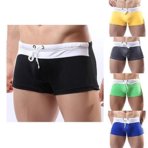 Sansee Männer Sexy Breathable Schwimmen Hosen, Bademode, Slips Shorts Boxer Unterwäsche (7921 Gelb, M(S))