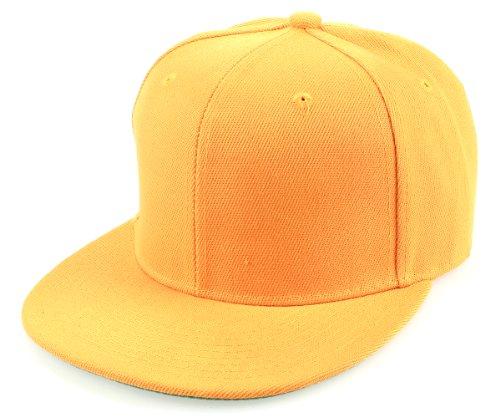 Sense42 | Snapback Cap | Uni | Unisex, für Damen und Herren | One Size | größemverstellbar | großer Schirm | einfarbig | gelb