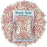 bébé Rose et Blanc Perle 4mm sucre dragées 30g pour décoration de gâteaux et cookies