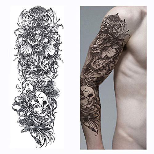 Yangll Jesus Volle Blume Arm Temporäre Tätowierung Aufkleber Körperfarbe Wasser Transfer Gefälschte Tätowierung 48X17Cmx2Pcs