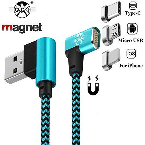Tipo C Micro USB C Cables magnéticos Carga Doble