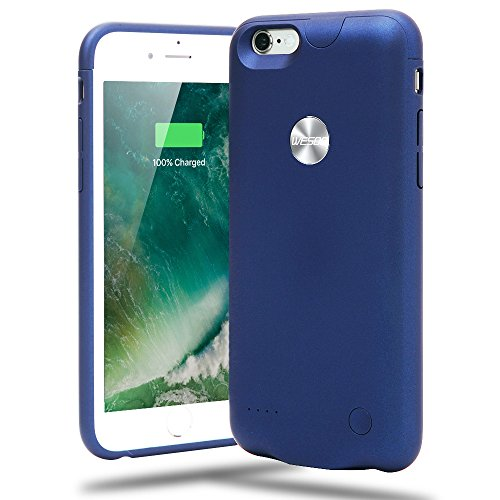 """Funda Carcasa Batería Recargable - Batería Cargador Externa Ultra Fina Wesoo 2500mAh para iPhone 6 / 6s 4,7"""" (Azul)"""