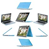 "iPearl mCover Hard Shell Case for 13.3"" Dell Inspiron 13 7347 / 7348 2-in-1 Convertible Laptop (AQUA)"