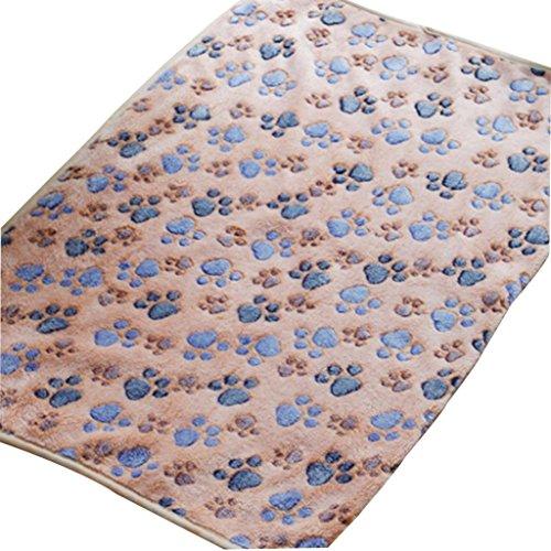 Transer® Warme Decke für Haustiere, Katzen/Hunde, weicher Hochflor-Überwurf & Patchwork-Decke für Hundehütte, Gr. XL/L/M/S, acryl, braun, L (Ribbon-fleece Pink)