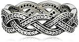 Pandora  Pearl Cubic Zirconia Silver Ring - Size R.5 190913CZ-60