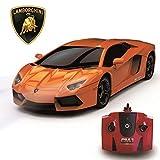 CMJ RC CarsTM Lamborghini Aventador LP 700-4xficial Sous licence Télécommande Voiture pour enfants et Adultes aussi bien avec Fonctionne lumières LED,télécommandé Supercar Sur La Route RC 1:24 Modèle,