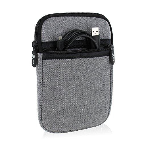gk line Schutzhülle für eBook Reader Tasche Etui Neopren Case Reißverschluss grau für max. Abmessungen von 180 x 120 mm