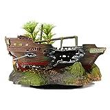OJ-3 Aquarium Dekoration versunkene Schiff Ornament