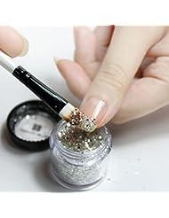 Ularma 10g/boîte Or Slivoïde Des ongles Paillettes Poudre Shinning Des ongles Miroir Poudre Silver