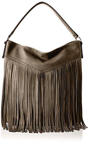 Tamaris - Maila Hobo Bag, Borse a Tracolla Donna Grigio (Grau (pewter 915))