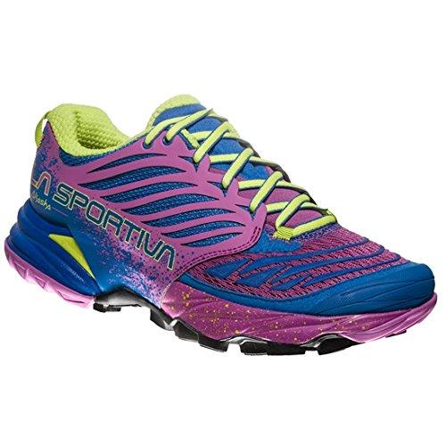 La Sportiva Akasha Woman, Scarpe da Trail Running Donna, Multicolore (Blu Oltremare/Viola 000), 40.5 EU