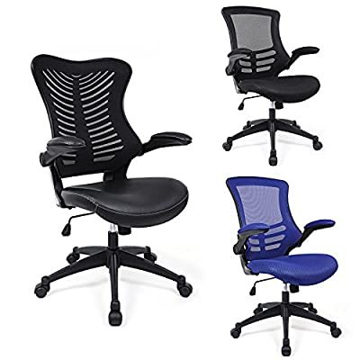 Songmics Mesh Office Computer Chair Swivel Chair with Foldable Armrest produced by Songmics - quick delivery from UK.