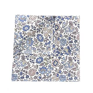Liberty Print Pocket Square - D`Anjo - Hand Stitched Hem