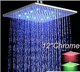 U-Enjoy Groß- Und Kleinhandel Top-Qualität Promotion Led-Farben-Chrom-Messing Regen Duschkopf Top Sprayer Für 8 [12 Zoll]