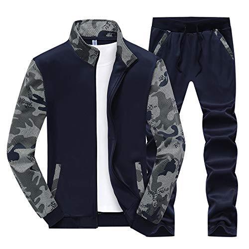 Your global store Traje Deportivo para Hombre Suéter Informal Sudadera para Mujer Camuflaje pareja Mens de Ciclismo Reflectante Impermeable Casual Abrigo Outdoor Sportswear