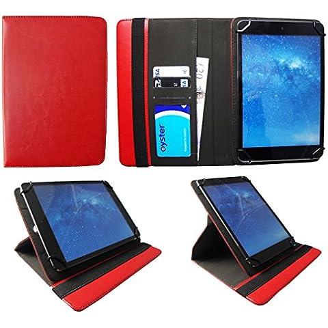 i-Joy Memphis Tablet 10.1 Pulgadas Roja Universal 360 Grados de Rotación Cuero PU Funda Carcasa Case Cover de Sweet Tech