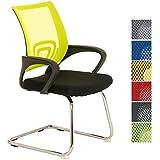 CLP Silla de conferencia EUREKA, diseño elegante, silla con reposabrazos, silla de visita, asiento acolchado cómodo amarillo