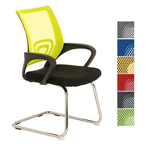 CLP Freischwinger-Stuhl mit Armlehne EUREKA, idealer Besucherstuhl / Konferenzstuhl gelb