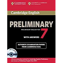 Cambridge English Preliminary 7 Student's Book Pack (Student's Book with Answers and Audio CDs (2)) (PET Practice Tests) by Cambridge ESOL (2012-04-09)