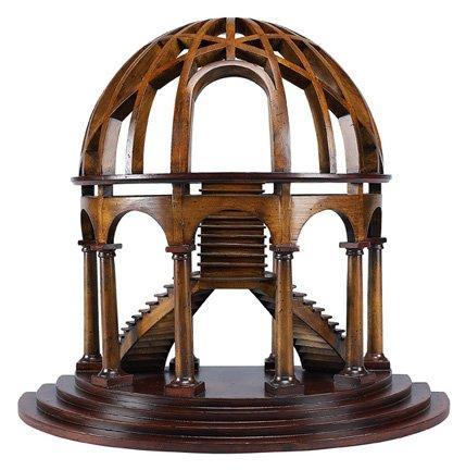 Authentic Models AR015 Architekturmodell Demi-Dome - handgefertigt - Kirschenholz - Birkenholz 46 x25 x 41 cm