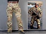 Menschen Militär Paintball Kriegsspiel Hose Kampf Gen3 Taktisch Hose und Kniepolster (XXL (38))