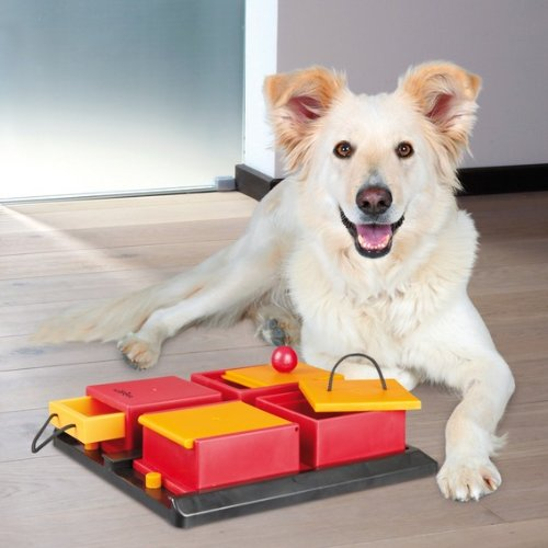 Trixie 32012 Dog Activity Poker Box Hundespielzeug, 31 × 10 × 31 cm - 2