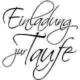 RAYHER 28378000, H.- Stempel Einladung zur Taufe, 6 x 6 cm, Artikel 11183