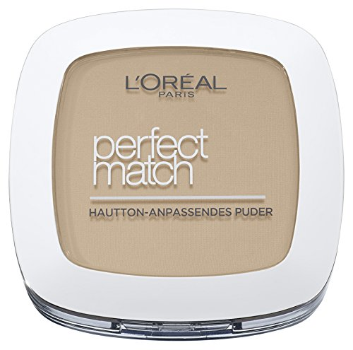L'Oréal Paris Perfect Match Mattierendes Puder in 1.R./1.C. Rose Ivory, hautanpassend, verschmilzt perfekt mit dem Hautton, 9 g - Make-up Perfect Rouge