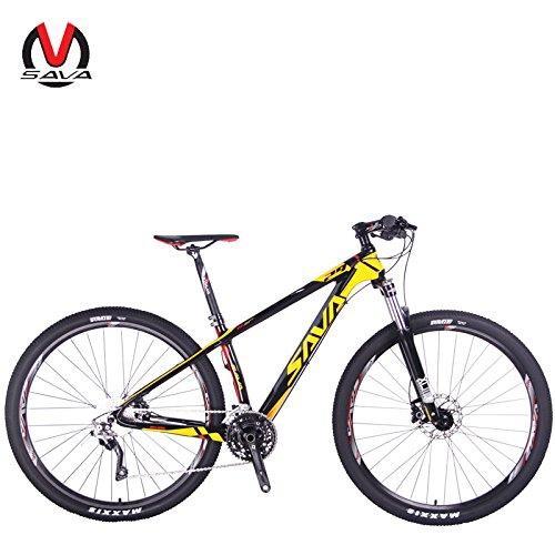 SAVADECK Vélo de Montagne 300 Fibre de Carbone 27,5'/ 29' Complete Tail Dur VTT Vélo Shimano M610...