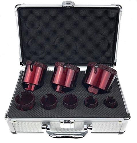 Set Fliesenbohrer 20-68 mm Feinsteinzeug Granit Bohrkrone Set 4 im Koffer