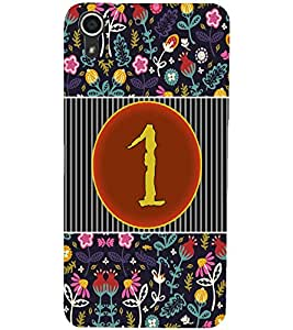 PrintDhaba Numerology Number 1 D-3087 Back Case Cover for HTC DESIRE 728 (Multi-Coloured)