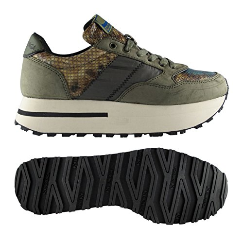Sneakers - 4701-synnbksnakenylw GREEN MILITARY